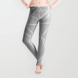 Geometric Cobweb (White & Gray Pattern) Leggings