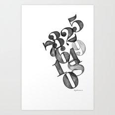 watercolornumbers Art Print