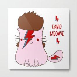 David Meowie  Metal Print