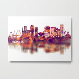 Brasilia Brazil Skyline Metal Print