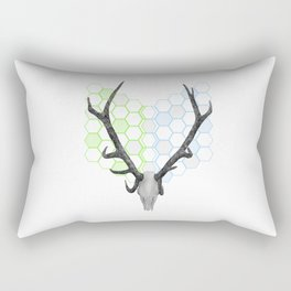Stag Skull Rectangular Pillow