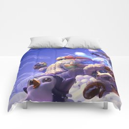 Snow Day Gnar Syndra Bard League of Legends Comforters