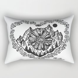 """Heart in the Highlands"" by Dark Mountain Arts Rectangular Pillow"