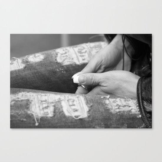 Hidden modesty Canvas Print