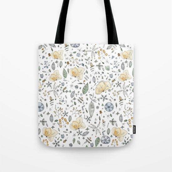 Flower Garden Watercolor Tote Bag