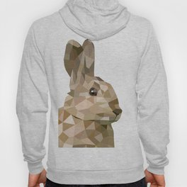 Rabbit Bunny  Geometric animal art Hoody