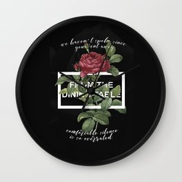 Harry Styles From the dining table graphic artwork Wall Clock