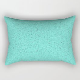 Turquoise rubber flooring Rectangular Pillow