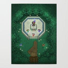 Zelda Mastesword Pixels Poster