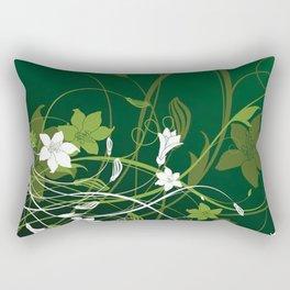 Art Flowers V15 Rectangular Pillow