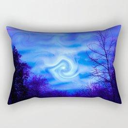 Blue night Moon Rectangular Pillow