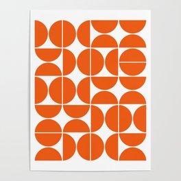 Mid Century Modern Geometric 04 Orange Poster