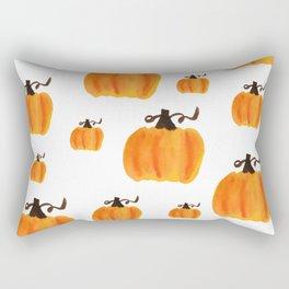 Watercolor Pumpkin Pattern Rectangular Pillow