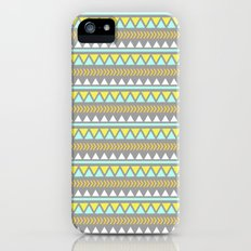 GRAY AND YELLOW AZTEC Slim Case iPhone (5, 5s)