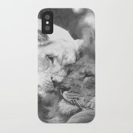 Lion in Love iPhone Case