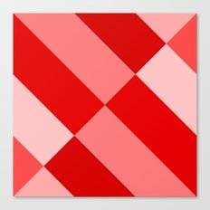 Angled Red Gradient Canvas Print