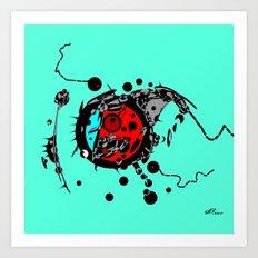 Microorganisms Art Print