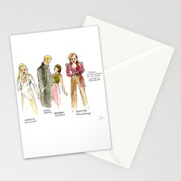 Live Sketches of Mythic dress rehearsal at Segal Centre - 2 Stationery Cards