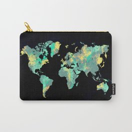 world map 87 green blue Carry-All Pouch
