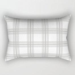 Farmhouse Plaid in Gray and White Rectangular Pillow