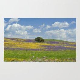 a solitary cork tree on the Alentejo plains Rug