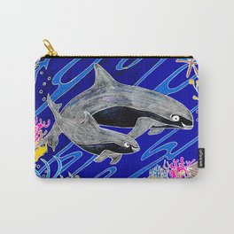 Vaquita Porpoises In Sea life Wreath Carry-All Pouch
