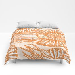 AMMONITE COLLECTION ORANGE Comforters