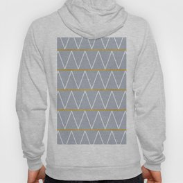 Gold and grey zigzag Hoody