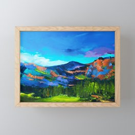 COLORADO HILLS Framed Mini Art Print