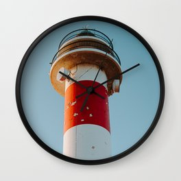 Vintage lighthouse of Spanish coast | Canary Islands | Calm, colourful and pastel fine art travel photography art print Wall Clock