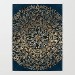 Gold Mandala 16 Poster