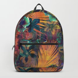 Haleiwa Tropical Orange Backpack