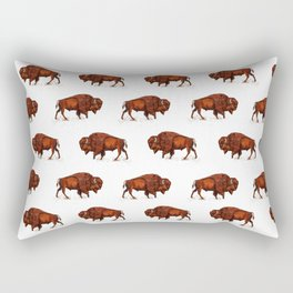 Buffalo Bison Watercolor Print Rectangular Pillow