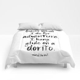 Hang Glide on a Dorito Comforters