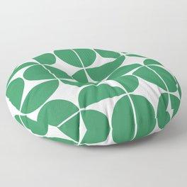 Mid Century Modern Geometric 04 Green Floor Pillow