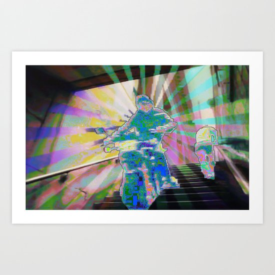 Get out the way Art Print