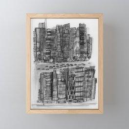 NYC gray Framed Mini Art Print