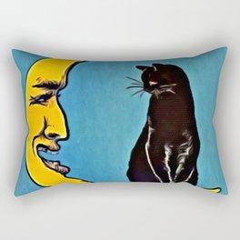 Black Cat & Moon Rectangular Pillow