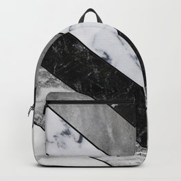 Shimmering mirage - grey marble chevron Backpack