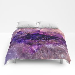 """Purple and Violet Agate Crystal"" Comforters"