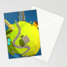 Low Poly Earth 5 Stationery Cards