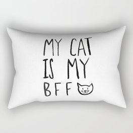 My Cat Is My BFF Rectangular Pillow