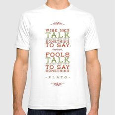 Plato regarding talking Mens Fitted Tee White SMALL