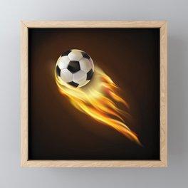Soccer bal Framed Mini Art Print
