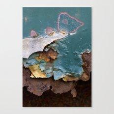 Teal Peel II Canvas Print