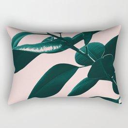 Ficus Elastica Blush Green Vibes #1 #foliage #decor #art #society6 Rectangular Pillow