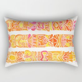 Tiki Totems – Orange Ombré Rectangular Pillow
