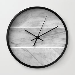 Granite Gray Slabs Wall Clock
