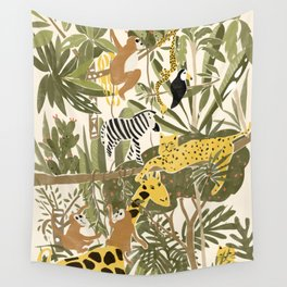 Th Jungle Life Wall Tapestry