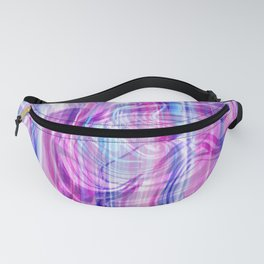 Girly pink blue teal white abstract watercolor marble Fanny Pack
